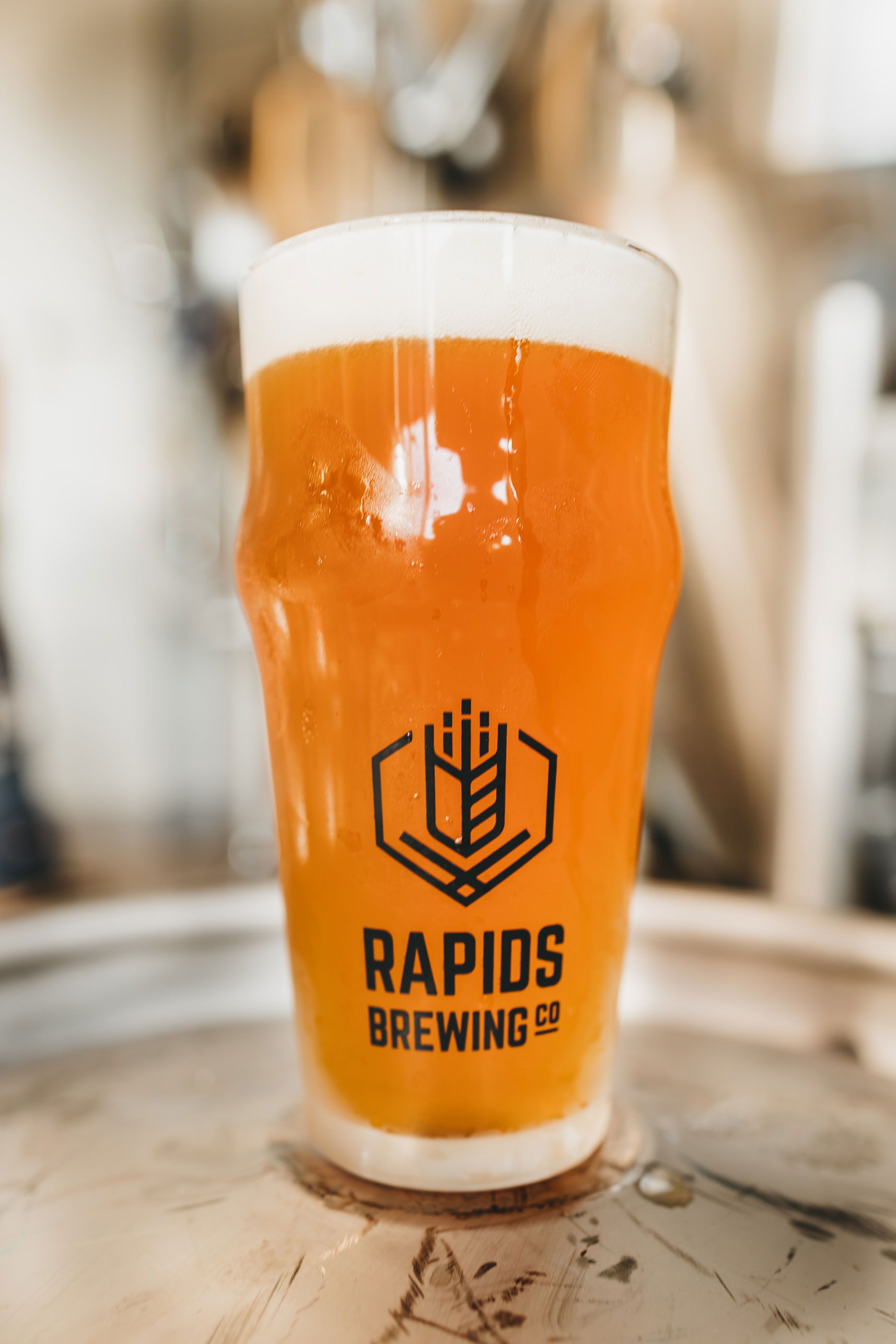 Jam IPA beer in glass with RBC logo