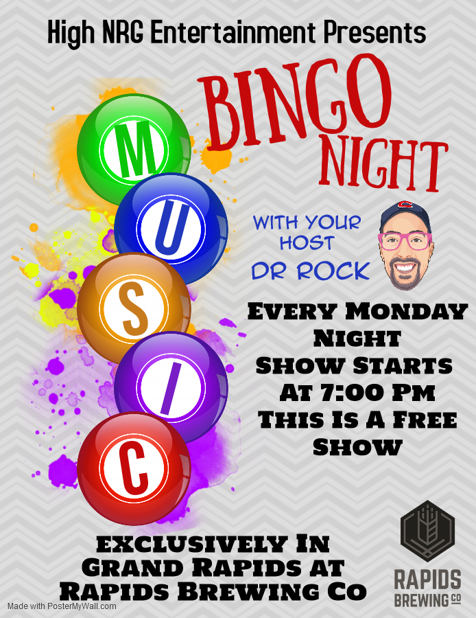 Music Bingo Flyer